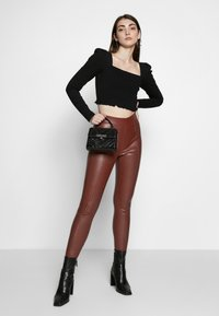 Topshop - PIPER  - Trousers - brown - 1
