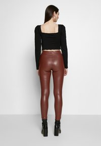 Topshop - PIPER  - Trousers - brown - 2