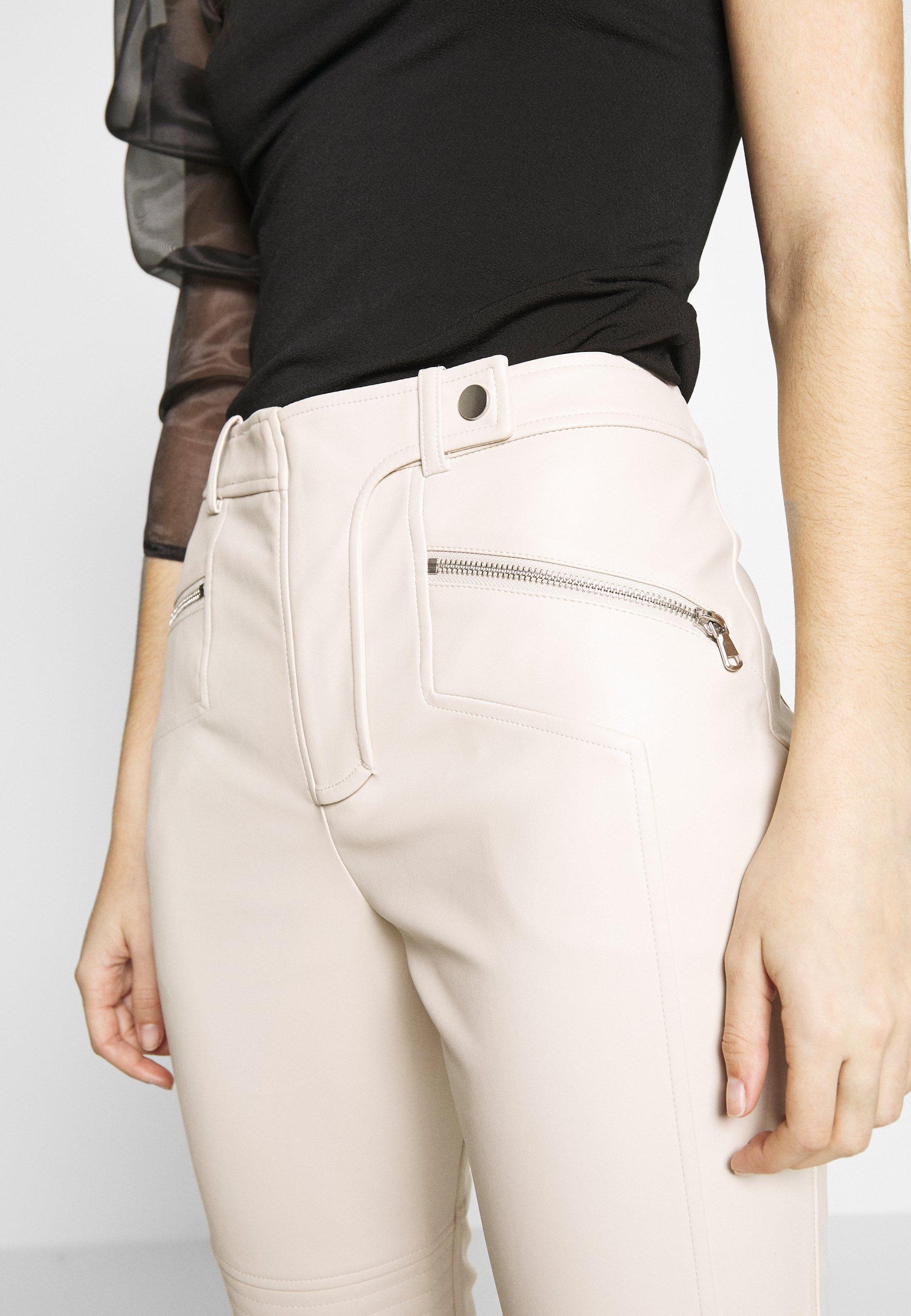 Topshop LOVE FOOL BIKER - Pantaloni - offwhite