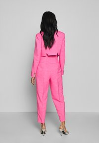 Topshop - PINK BUTTON DETAIL  - Trousers - pink - 2