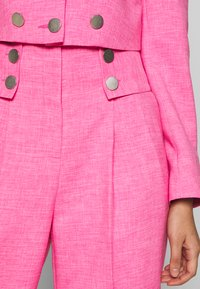 Topshop - PINK BUTTON DETAIL  - Trousers - pink - 4