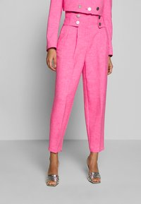 Topshop - PINK BUTTON DETAIL  - Trousers - pink - 0