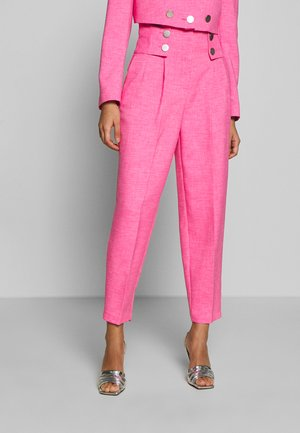 PINK BUTTON DETAIL  - Trousers - pink