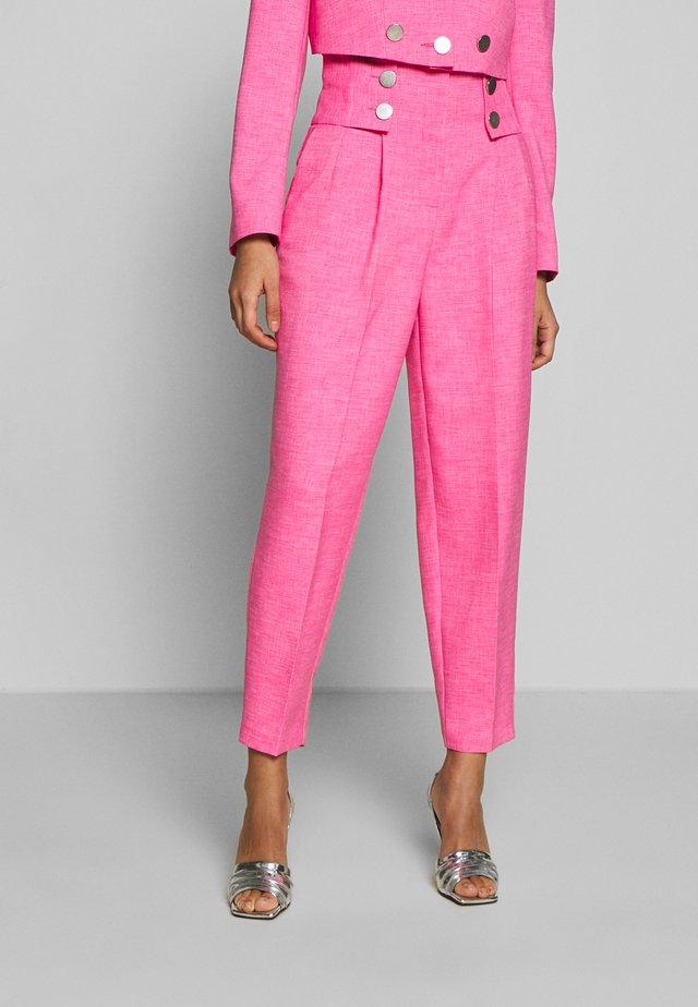 PINK BUTTON DETAIL  - Spodnie materiałowe - pink