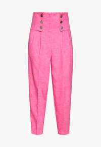 Topshop - PINK BUTTON DETAIL  - Trousers - pink - 3