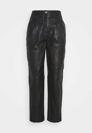 ELLA  - Leather trousers - black