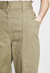 Topshop - REESE UTILITY MENSY - Trousers - light khaki - 4