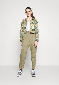 Topshop - REESE UTILITY MENSY - Trousers - light khaki - 1