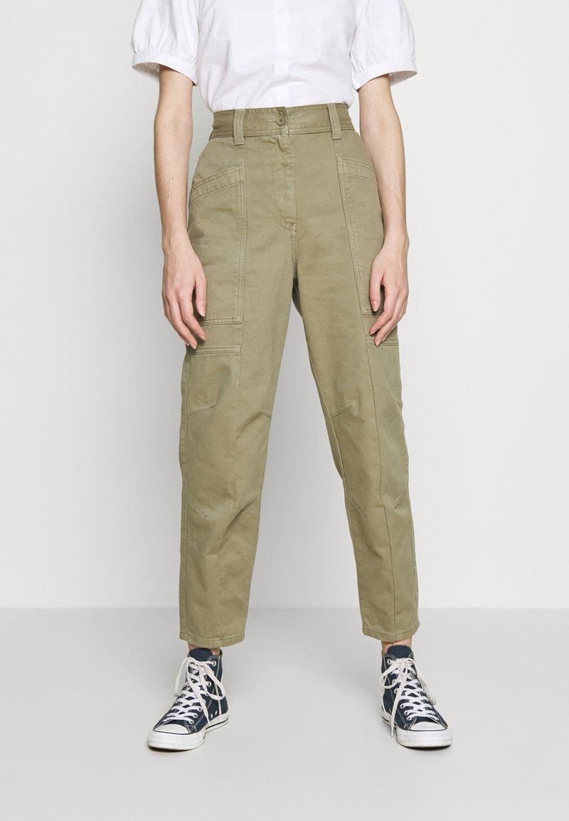 Topshop - REESE UTILITY MENSY - Trousers - light khaki