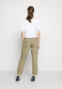 Topshop - REESE UTILITY MENSY - Trousers - light khaki - 2