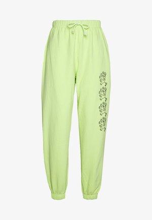 Teplákové kalhoty - lime