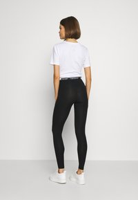 Topshop - ELASTIC 2 PACK - Leggings - black