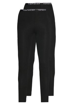 ELASTIC 2 PACK - Leggings - Trousers - black