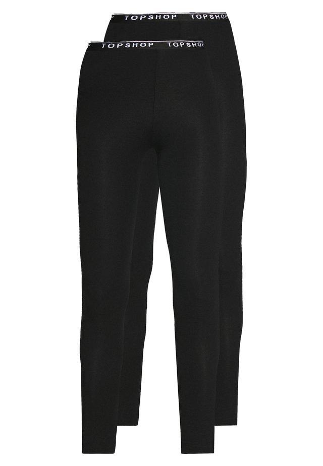 ELASTIC 2 PACK - Leggings - Hosen - black