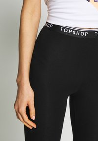 Topshop - ELASTIC 2 PACK - Leggings - black - 4
