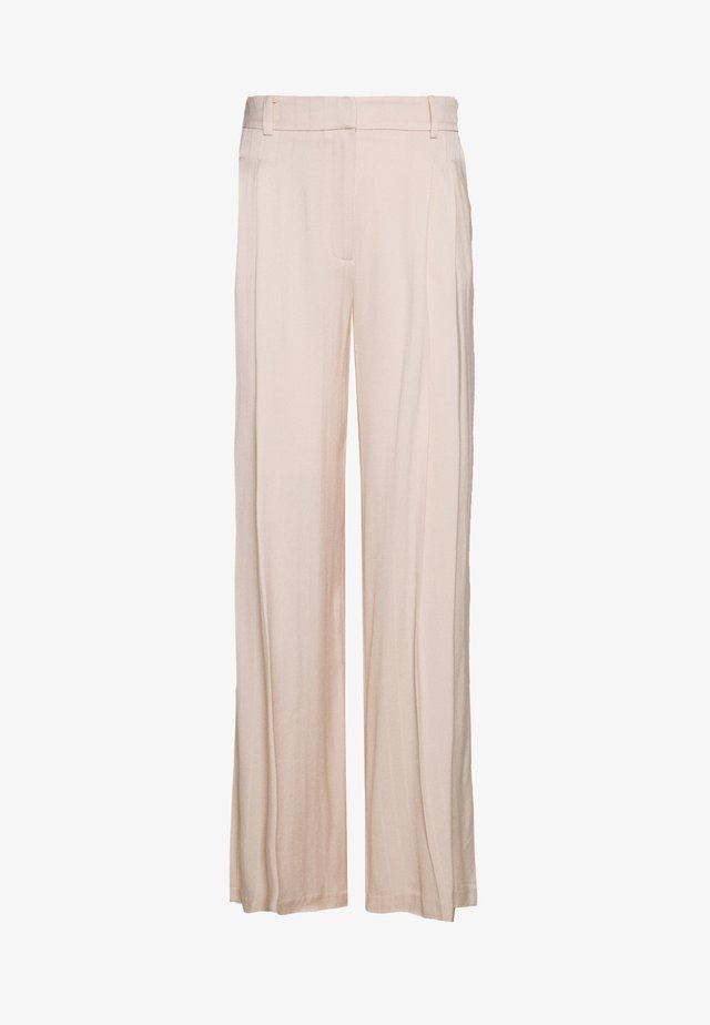 SELF STRIPE WIDE LEG - Broek - nude