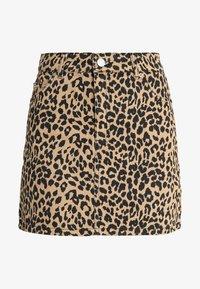Topshop - NEW LEOPARD - A-snit nederdel/ A-formede nederdele - tan - 4