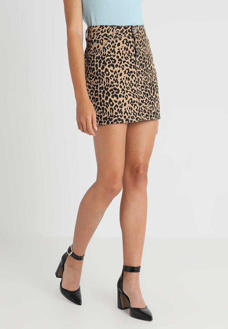 Topshop - NEW LEOPARD - A-snit nederdel/ A-formede nederdele - tan