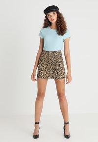 Topshop - NEW LEOPARD - A-snit nederdel/ A-formede nederdele - tan - 2