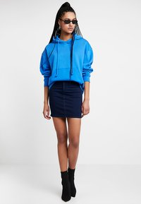 Topshop - JONI SKIRT - Denimová sukně - blue denim - 1