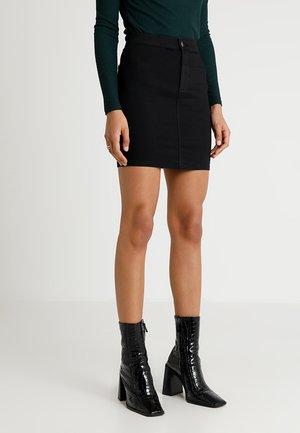 JONI SKIRT - Denimová sukně - black