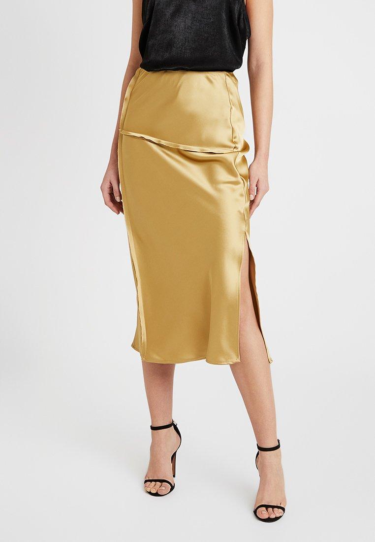 Topshop - RAW SEAM BIAS - A-snit nederdel/ A-formede nederdele - gold