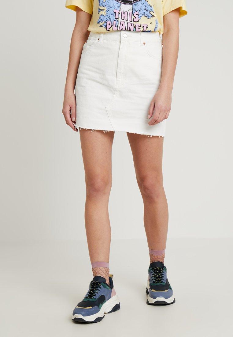Topshop - A-snit nederdel/ A-formede nederdele - white