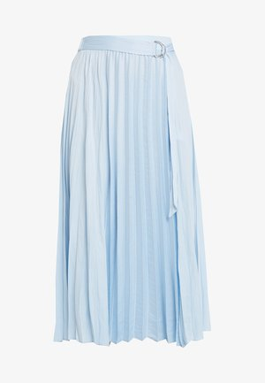 PLEAT MIDI - A-line skirt - light blue