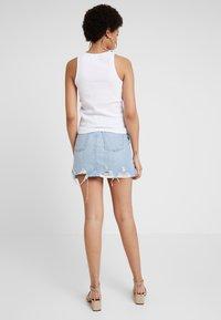 Topshop - RIP - A-line skirt - blue denim - 2
