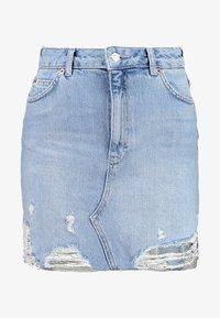 Topshop - RIP - A-line skirt - blue denim - 3