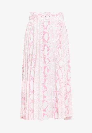 SNAKE PLEAT MIDI - Gonna a pieghe - pink