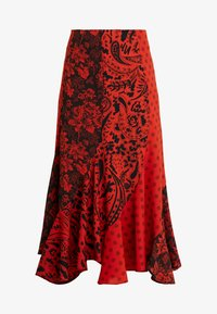 Topshop - PAISLEY MIXED PRINT MIDI - Maxinederdele - red - 3