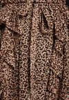 Topshop - LEOPARD RUFFLE PLEAT MINI - Mini skirt - nude