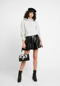 Topshop - FLIPPY - A-line skirt - black - 1
