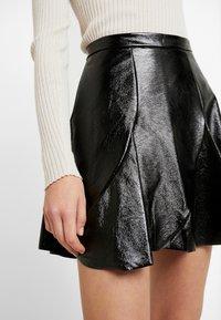 Topshop - FLIPPY - A-line skirt - black - 4
