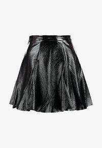 Topshop - FLIPPY - A-line skirt - black - 3