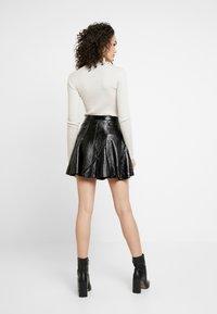 Topshop - FLIPPY - A-line skirt - black - 2