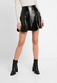 Topshop - FLIPPY - A-line skirt - black - 0