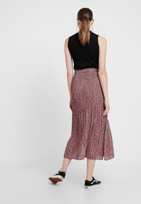 Topshop - ANIMAL MICRO PLEAT - Gonna a pieghe - pink - 2