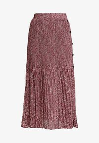 Topshop - ANIMAL MICRO PLEAT - Gonna a pieghe - pink - 3