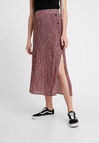 Topshop - ANIMAL MICRO PLEAT - Gonna a pieghe - pink - 0
