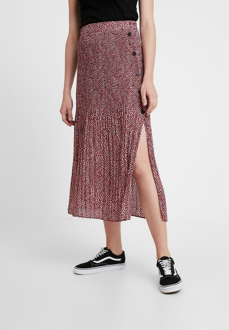 Topshop - ANIMAL MICRO PLEAT - Gonna a pieghe - pink