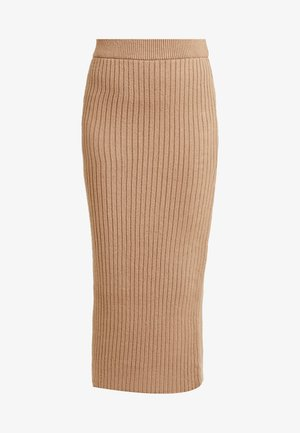 MIDI - Pencil skirt - camel