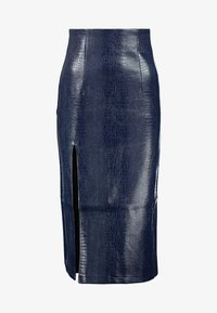 Topshop - CROC PENCIL - Gonna a tubino - navy - 3