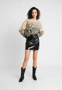 Topshop - MINI CLOTH - Mini skirt - black - 1