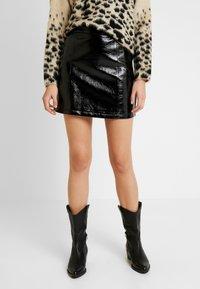 Topshop - MINI CLOTH - Mini skirt - black - 0