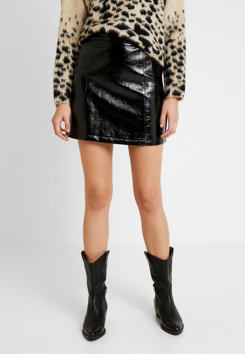 Topshop - MINI CLOTH - Mini skirt - black