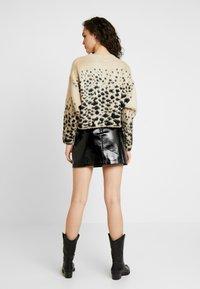 Topshop - MINI CLOTH - Mini skirt - black - 2