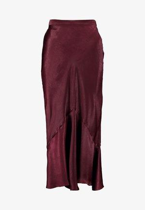 PLAIN FLOUNCE - Maxi sukně - bordeaux