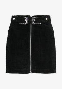 Topshop - NEW BUCKLE SKIRT - Minirok - black - 3